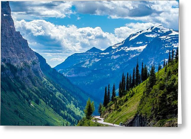 Weeping Greeting Cards - Glacier National Park - Weeping Wall Greeting Card by Rachel Bellesen