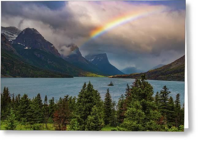 Glacier Rainbow Greeting Card by Darren White