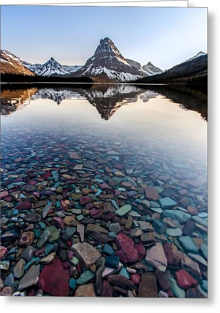 Glacier Skittles Greeting Card by Aaron Aldrich