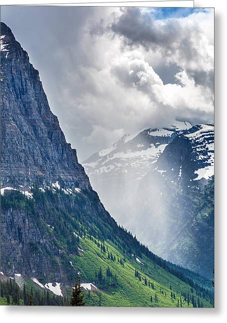 Glacier Greeting Cards - Glacier Storm Greeting Card by Robert Bynum