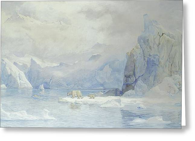 Iceberg Greeting Cards - Glacier Greeting Card by Tristram Ellis