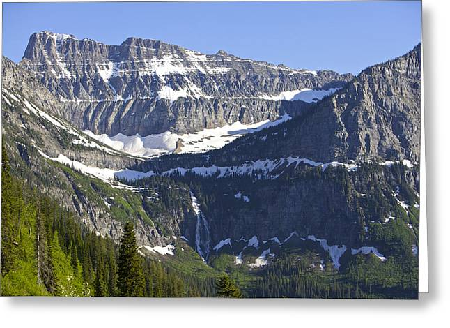 Best Sellers -  - Fed Greeting Cards - Glacier Waterfall Greeting Card by Richard Steinberger