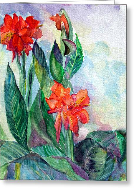 Gladiolas Drawings Greeting Cards - Glad to be Greeting Card by Mindy Newman