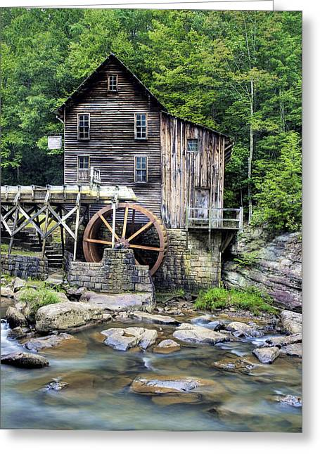 Glade Creek Greeting Cards - Glade Creek Grist Mill in West Virginia HDR Greeting Card by Brendan Reals