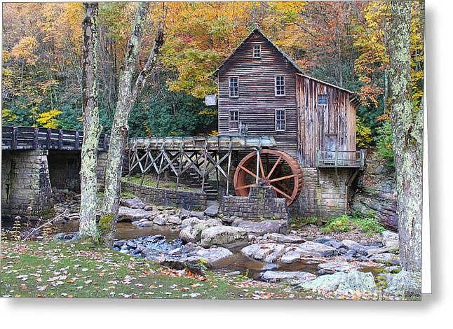 Glade Creek Greeting Cards - Glade Creek Grist Mill Greeting Card by Jack Schultz