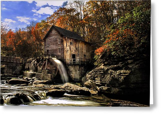 River Rafting Art Print Greeting Cards - Glade Creek Grist Mill Greeting Card by Mark Allen