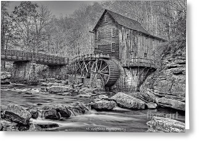 Grist Mill Greeting Cards - Glade Creek Grist Mill  Greeting Card by Mike Griffiths