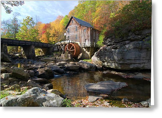 Glade Creek Grist Mill Greeting Card by Steve Stuller