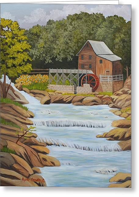 Ruth Housley Greeting Cards - Glade Creek Grist Mill West Virginia SOLD Greeting Card by Ruth  Housley