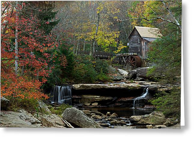 Glade Creek Mill Greeting Card by Jonas Wingfield