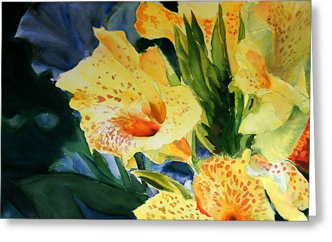 Gladiolus Greeting Card by Maria Balcells