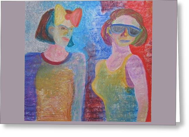 Abstract Expression Greeting Cards - Glamour Girls Greeting Card by Toni Johnstone