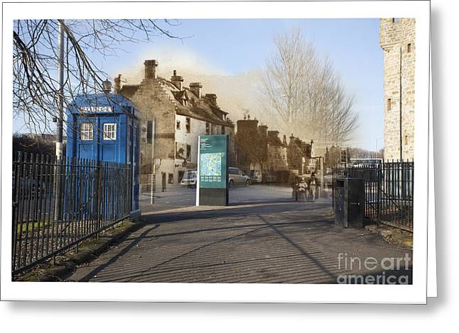 Merging Greeting Cards - Glasgow Past and Present Merge  Greeting Card by Caroline Abbotsford