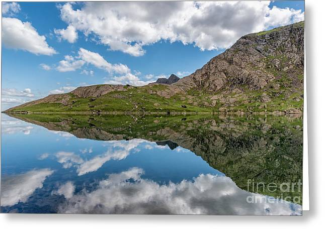 Calm Water Reflection Greeting Cards - Glaslyn Lake Greeting Card by Adrian Evans