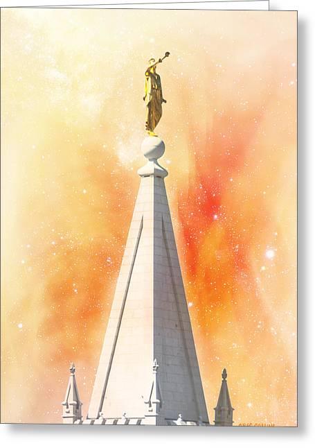 Salt Lake City Temple Digital Greeting Cards - Glasnik Greeting Card by Greg Collins