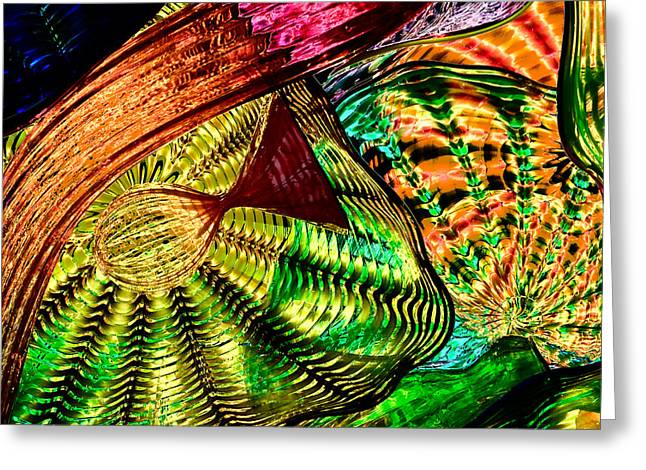 Chihuly Glass Greeting Cards - Glass Abstract 12 Greeting Card by David Patterson