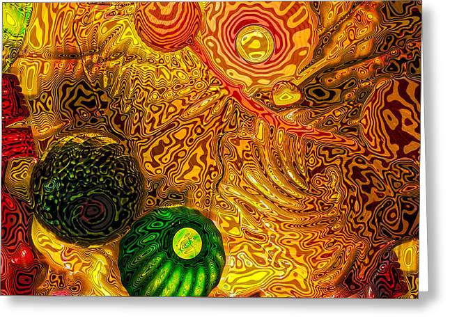 Chihuly Glass Greeting Cards - Glass Abstract 6 Greeting Card by David Patterson
