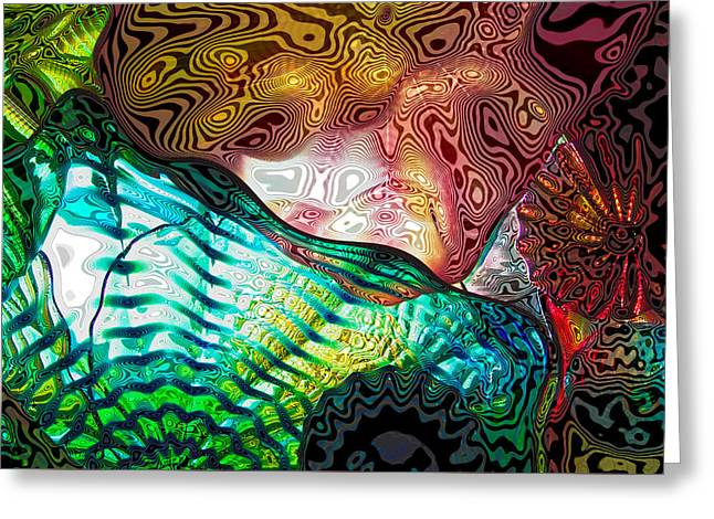 Chihuly Glass Greeting Cards - Glass Abstract 8 Greeting Card by David Patterson