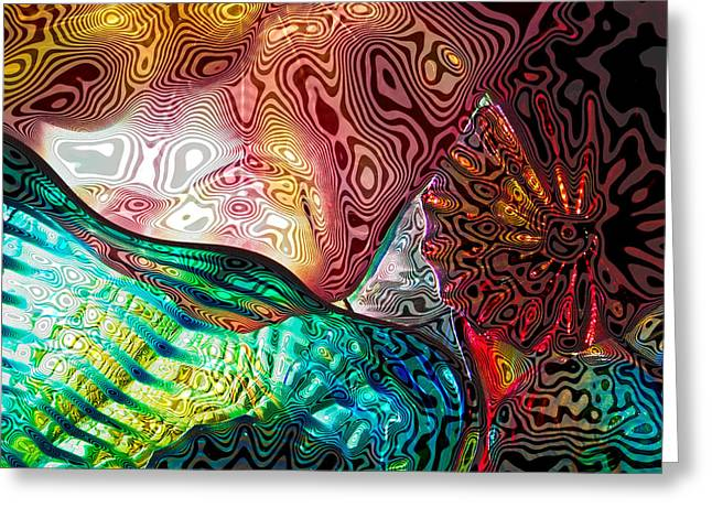 Chihuly Glass Greeting Cards - Glass Abstract 9 Greeting Card by David Patterson