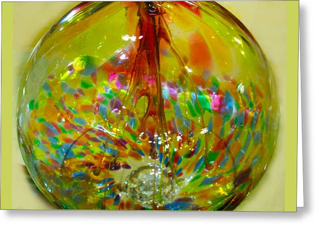 Glass Balloon Greeting Card by ARTography by Pamela Smale Williams
