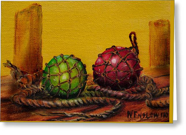 Glass Buoys Greeting Cards - Glass Buoys Greeting Card by Wayne Enslow