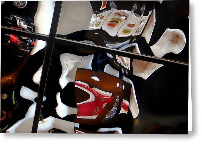 Distortion Greeting Cards - Glass Ceiling Greeting Card by Donna Blackhall