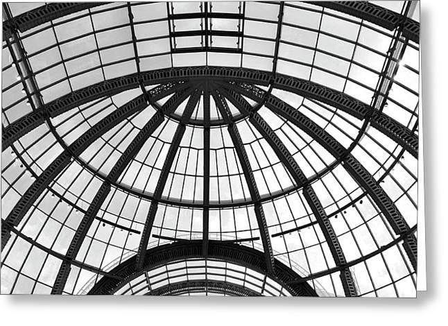 Glass Dome Greeting Card by Corinne Rhode
