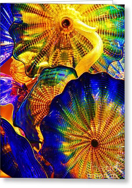 Glass Fantasy Greeting Card by Mariola Bitner