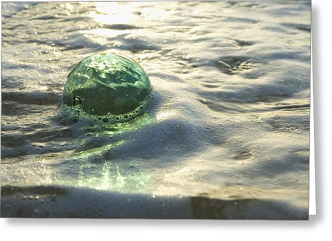 Glass Fishing Floats Greeting Card by Mary Van de Ven - Printscapes