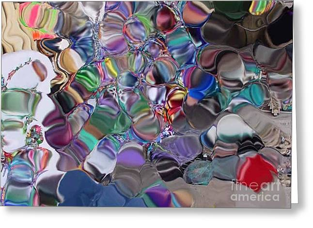 Glass Globes Greeting Card by Ron Bissett