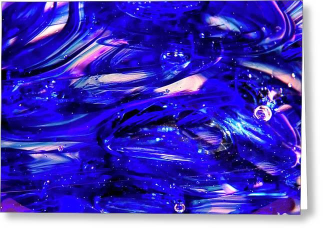 Glass Macro Xvii Greeting Card by David Patterson