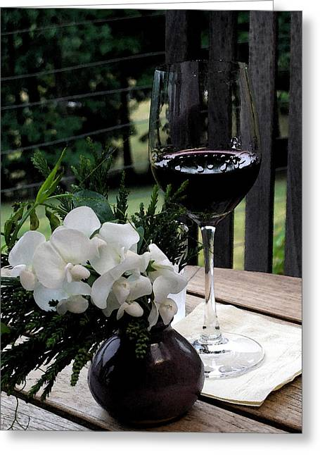 Chilled French Wine Collection Greeting Cards - Glass of Wine Greeting Card by Don  Wright