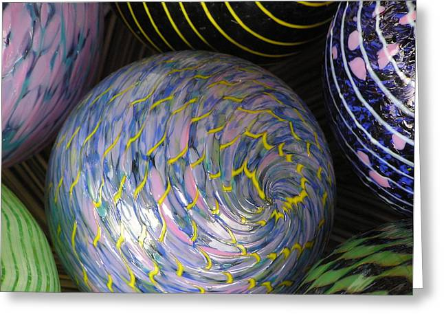 Glass Ball Greeting Cards - Glass Orbs Greeting Card by Richard Mansfield