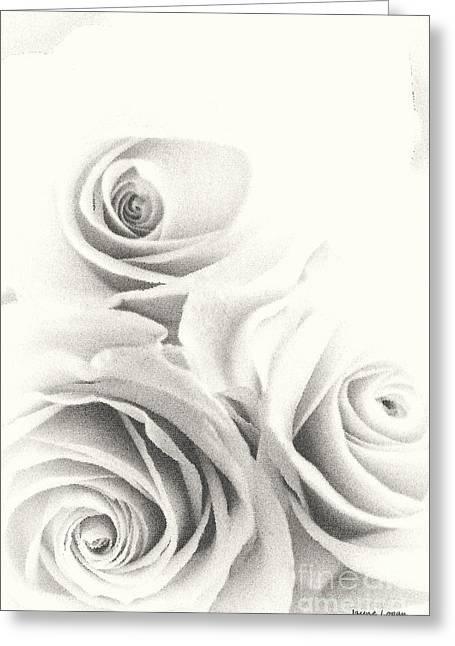 Three Roses Greeting Cards - Glass Roses Greeting Card by Jayne Logan Intveld