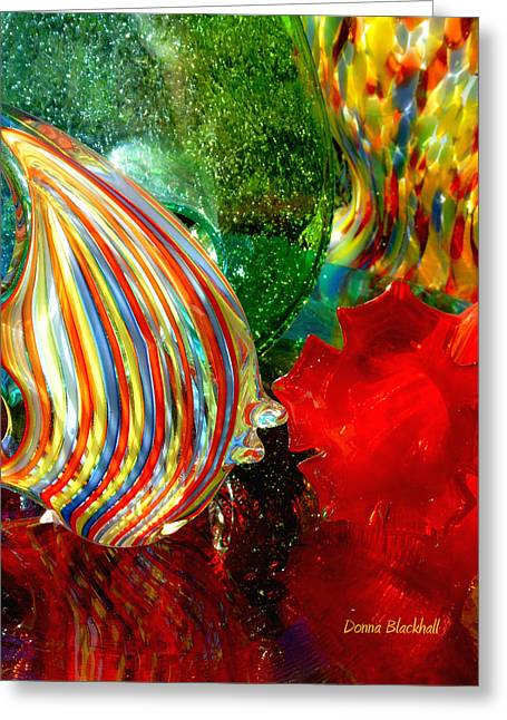 Glass Vase Greeting Cards - Glass Sea Greeting Card by Donna Blackhall