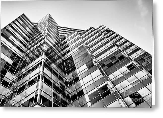 Glass Building Greeting Cards - Glass Towers Greeting Card by Patrick M Lynch
