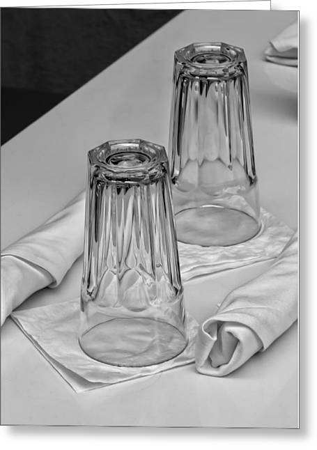 Table Greeting Cards - Glassware Greeting Card by Robert Ullmann