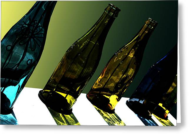 Sparkling Wine Greeting Cards - Glassworks Greeting Card by Barbara  White