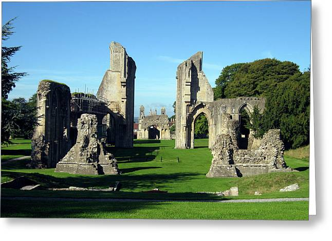 Churches Greeting Cards - Glastonbury Abbey 1 Greeting Card by Kurt Van Wagner