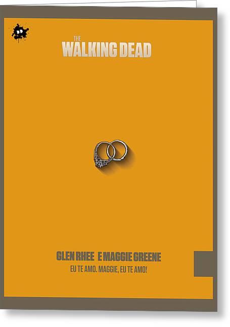 Fanatic Mixed Media Greeting Cards - Glem Rhee e Maggie Greene Greeting Card by Diretorio do Design