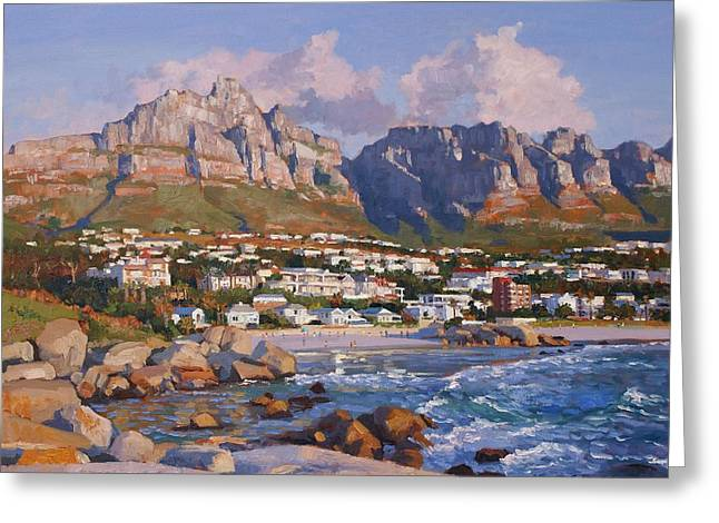 Glen Beach, Cape Town Greeting Card by Roelof Rossouw