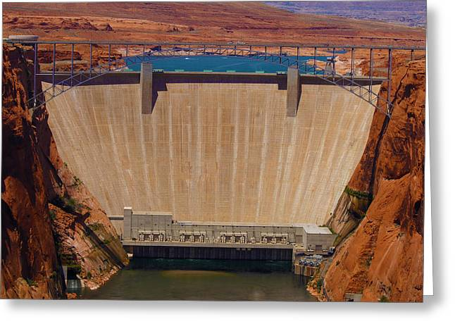 Power Plants Greeting Cards - Glen Canyon Dam Greeting Card by Scott Sanders