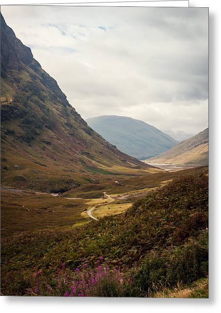 Grey Clouds Greeting Cards - Glen Coe Greeting Card by Chris Dale