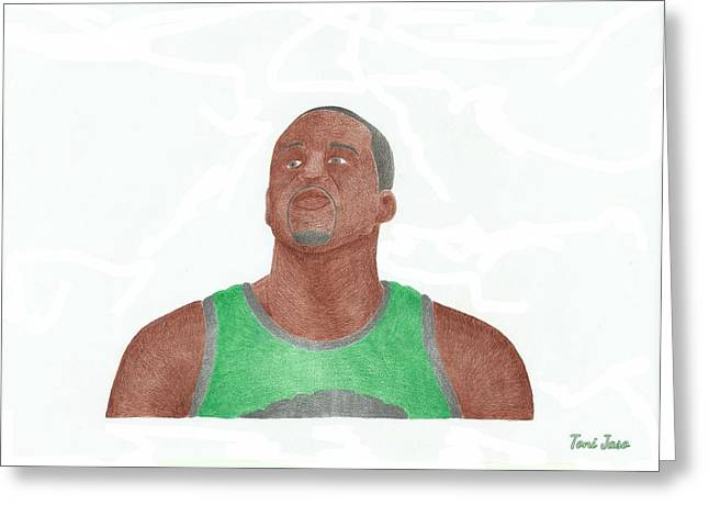 Boston Celtics Drawings Greeting Cards - Glen David Greeting Card by Toni Jaso