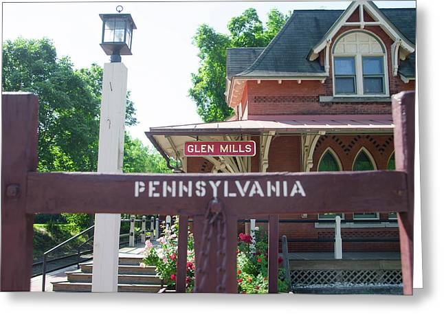 Glen Mills Pennsylvania Greeting Card by Bill Cannon