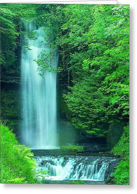 Stream Digital Greeting Cards - Glencar Waterfall  Greeting Card by Roy Pedersen