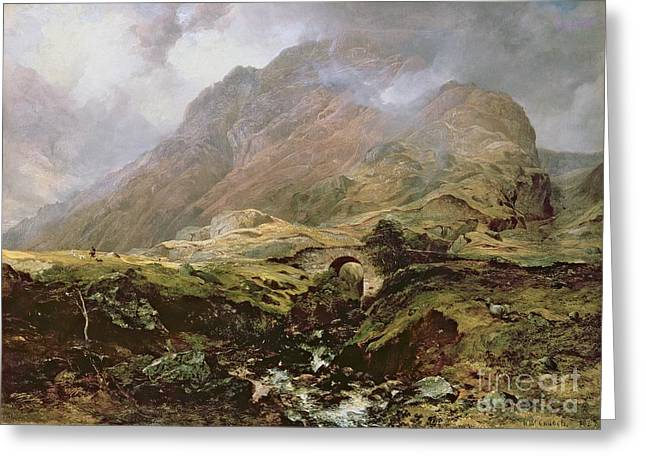 1805 Greeting Cards - Glencoe Greeting Card by Horatio McCulloch