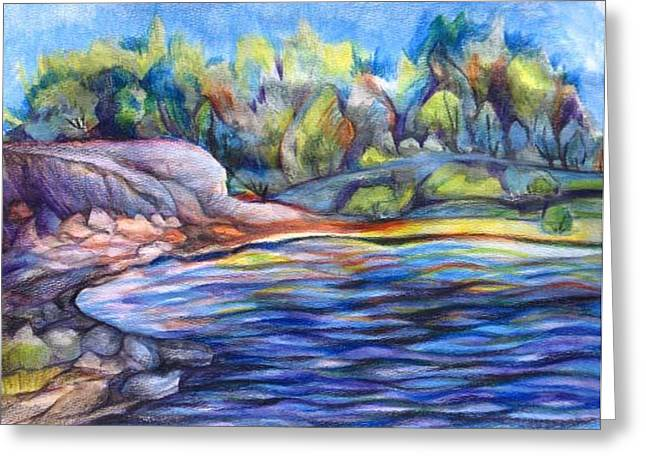 Glenmore Reservoir Greeting Cards - Glenmore reservoir Greeting Card by Anna  Duyunova