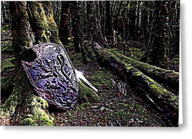 Sacred Grove Greeting Cards - Glen of Glory Greeting Card by Owen Bright