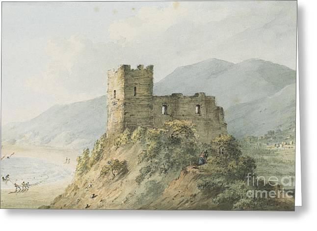 Glensanda Castle Loch Linnhe Greeting Card by John Warwick